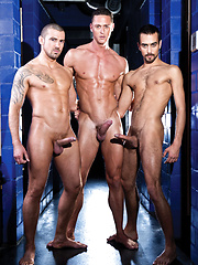 Fostter Riviera, Ivan Gregory, and Marco Sessions Fuck Raw - Gay porn pics at GayStick.com