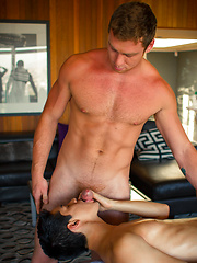 The thought of hot jock Connor Maguire giving a strong armed sensual message to Liam Riley - Gay porn pics at GayStick.com