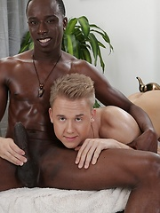 Chris & Alejandro Enjoy A Big Sausage Hook-Up - With Plenty of Creamy Sauce On The Side! - Gay porn pics at GayStick.com