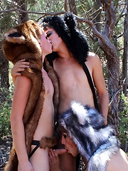 A Wilderness Threesome Fuck - Gay porn pics at GayStick.com