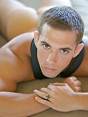 Never-Before-Seen Uniformed Solo of Kasey - Gay porn pics at Gaystick
