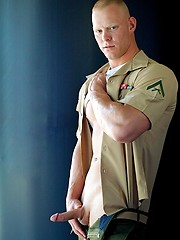 Huge Marine Dane's Uniformed Solo - Gay porn pics at GayStick.com