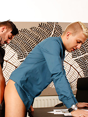 In Trouble With The Boss - Gay porn pics at GayStick.com