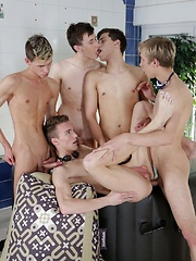 Scorchingly Hot Jacuzzi Threesome Turns Into A Five-Dicked Suck-&-Fuck-Fest! - Gay porn pics at GayStick.com