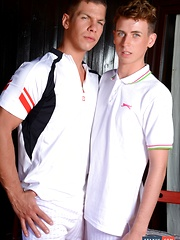 Young Tennis Wannabe Proves Himself An Ace When It Cums To Taking Cock Up The Ass! - Gay porn pics at Gaystick