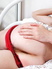 Jerry takes off his red panties - Gay porn pics at GayStick.com