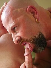 Andrew Mason is the wet sticky center of a bareback sandwich! - Gay porn pics at GayStick.com