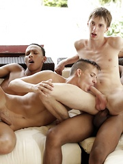 It's Out Of The Pool & Into A Couple Of Horny White Asses For These Two Mammoth Black Dudes! - Gay porn pics at GayStick.com