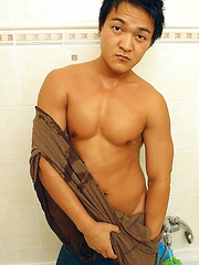 Buff Asian Boy Sasha Jerks Off - Gay porn pics at GayStick.com