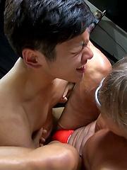A Threesome: Ko, Kiba and Makoto Part Two - Gay porn pics at Gaystick