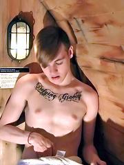 Skyler Solo In The Sauna!